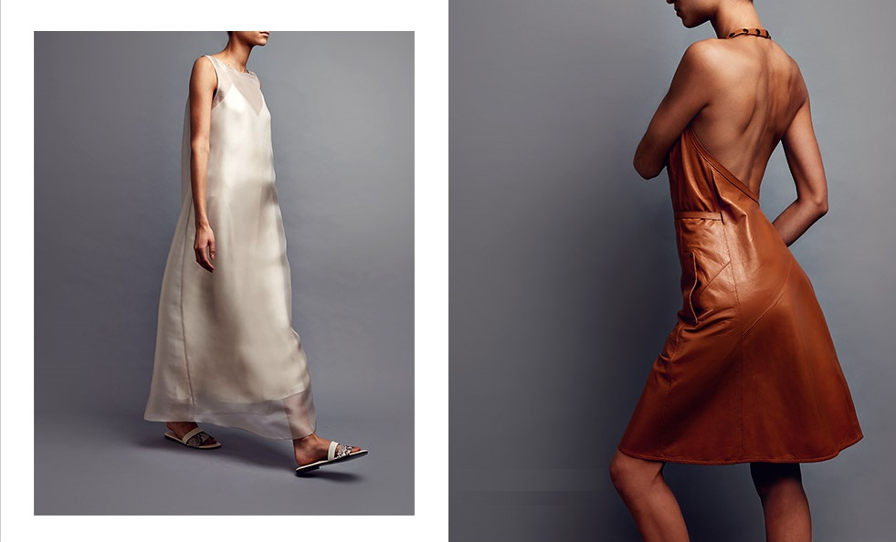 The Row Anmar silk-organza dress
