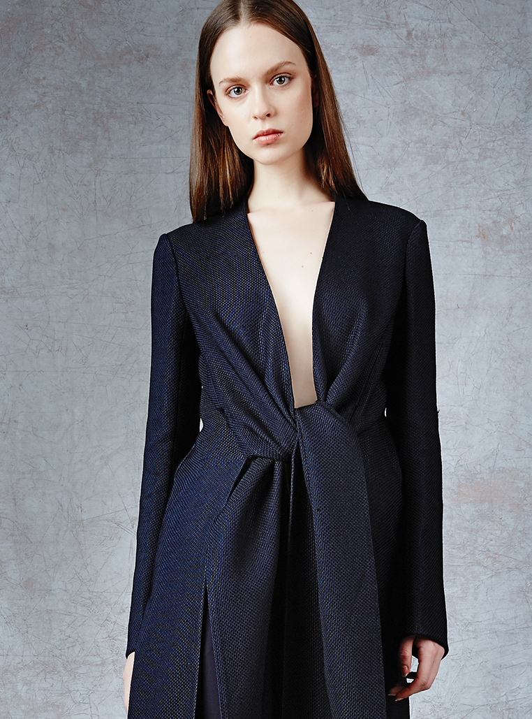 The Row Vantin Tie-Front Coat