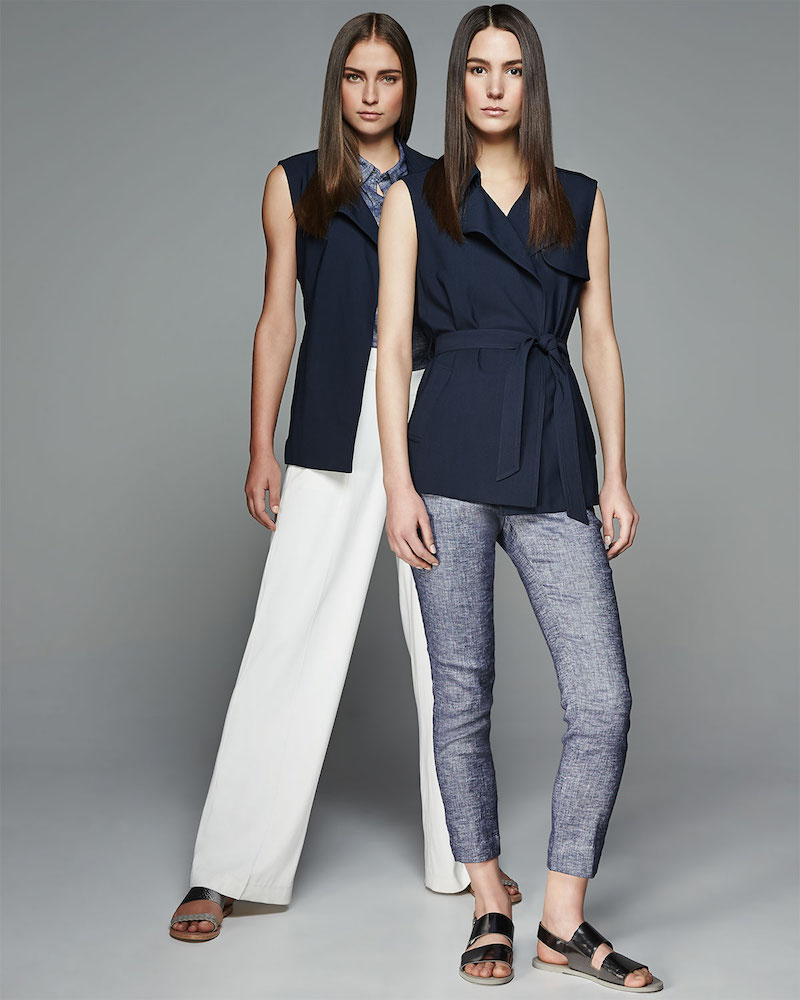 Theory Thaniel Slim Cropped Chambray Pants