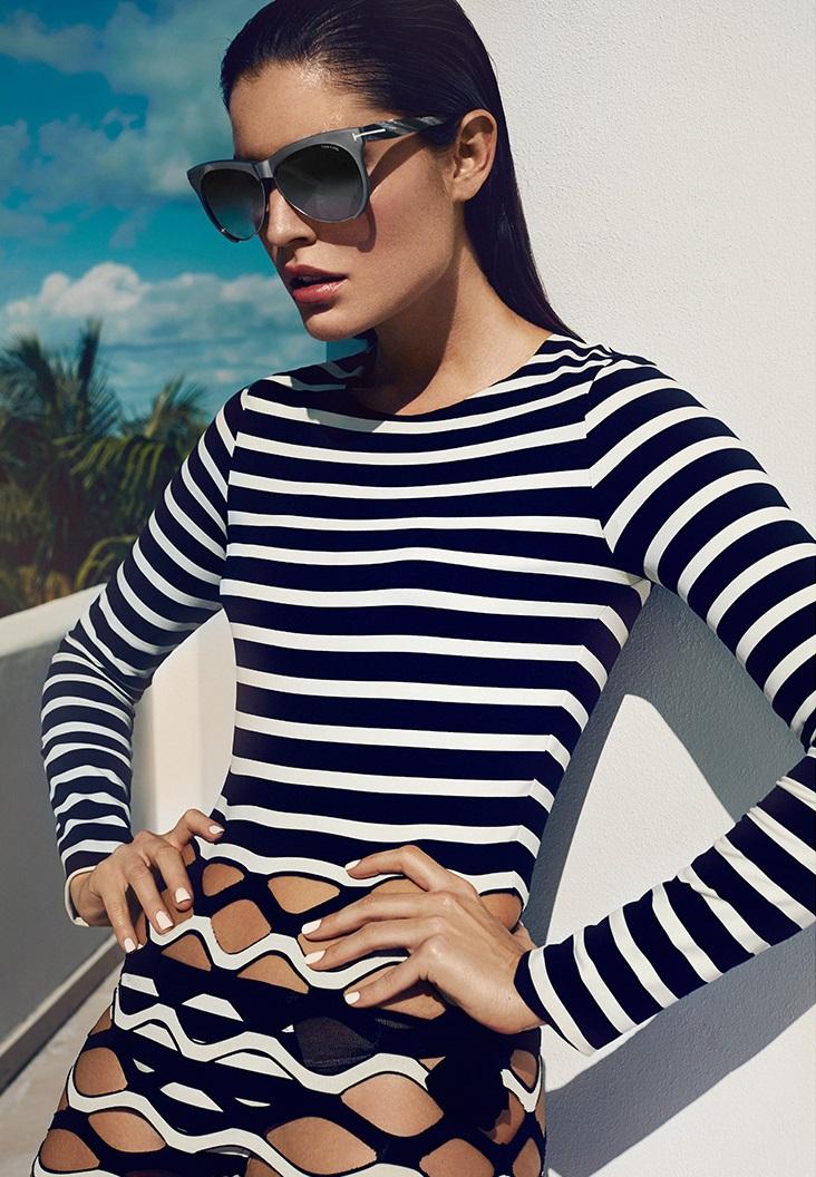 Tom Ford Eyewear Leona Aviator Sunglasses