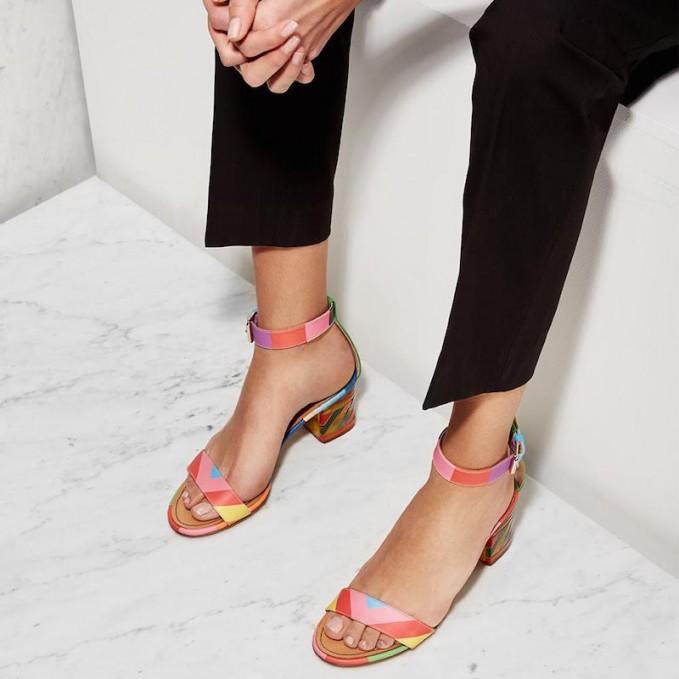 Valentino 1973 Rainbow Plexiglas Sandals
