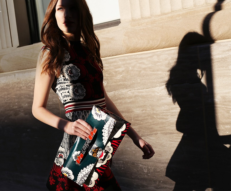 Valentino Covered Mixed-Floral Clutch