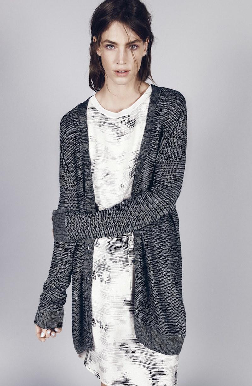 Vince Print Drop Waist Silk Dress