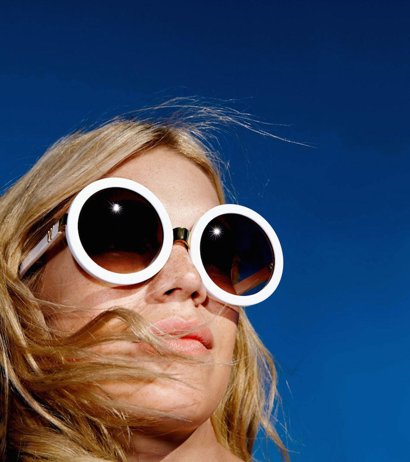 Wildfox Malibu 56mm Round Sunglasses