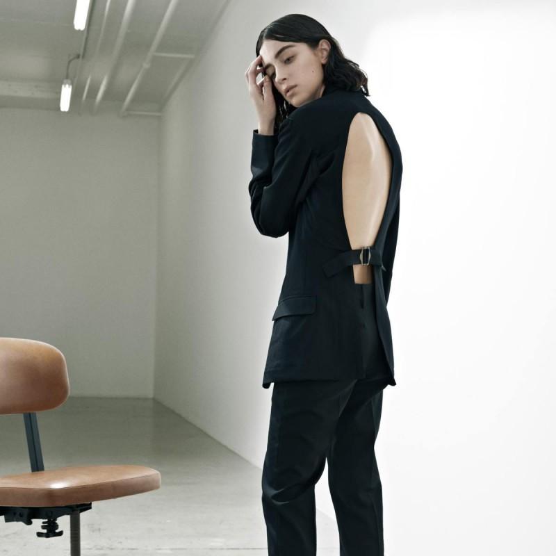 Yohji Yamamoto Black Open-Back Blazer