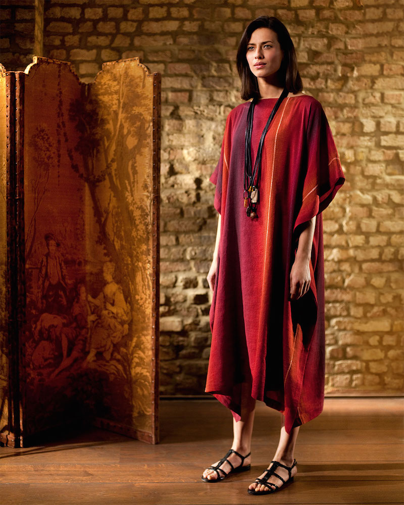eskandar Bateau-Neck Caftan Dress