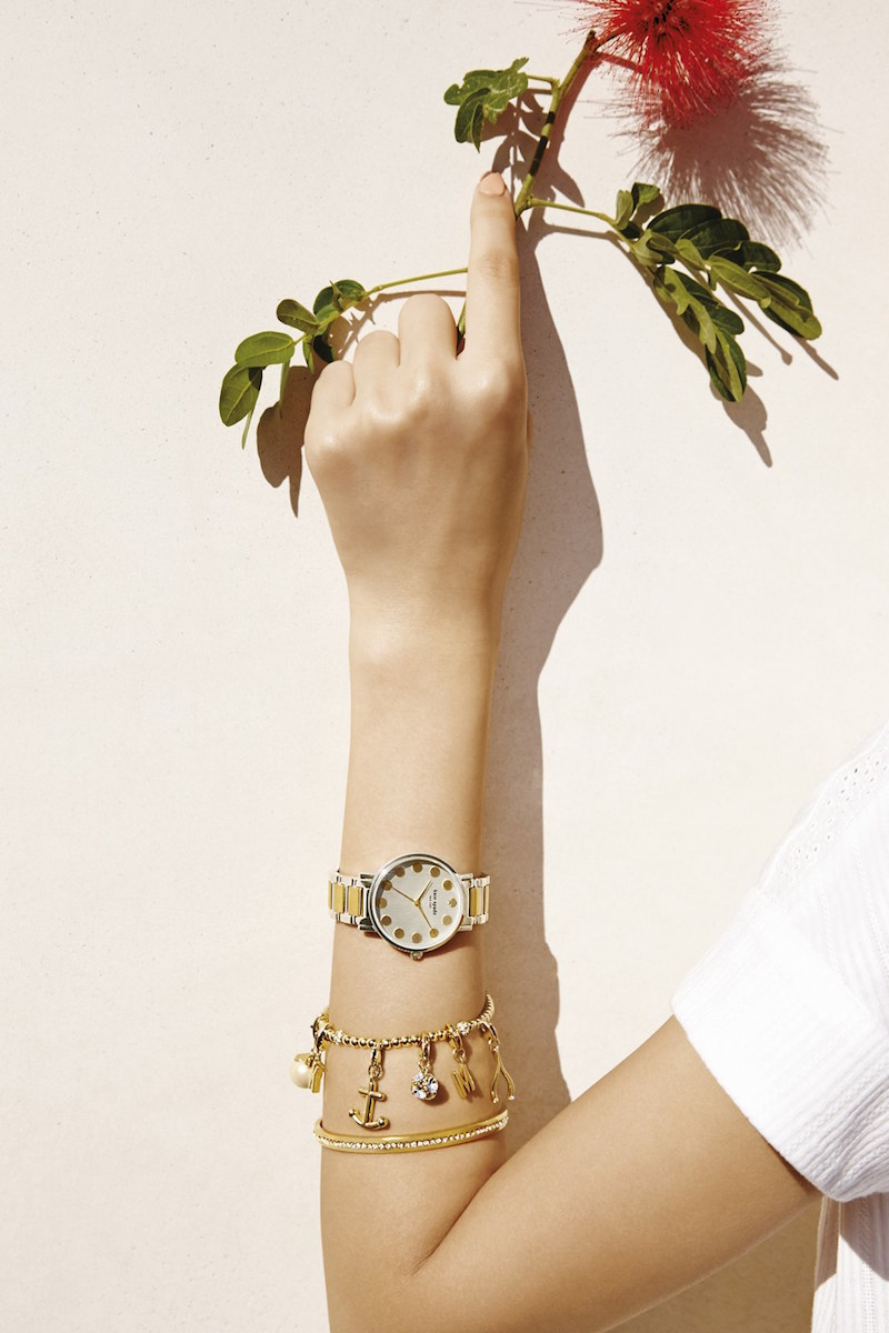 kate spade new york 'gramercy' dot dial bracelet watch
