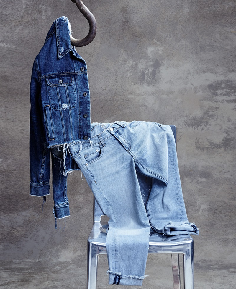 rag & bone Cropped Boyfriend Denim Jacket