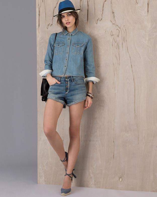 rag & bone JEAN EXCLUSIVE Weston Exposed Fly Short
