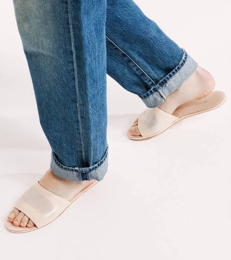 the palatines Caelum Slide Sandal with Stripe