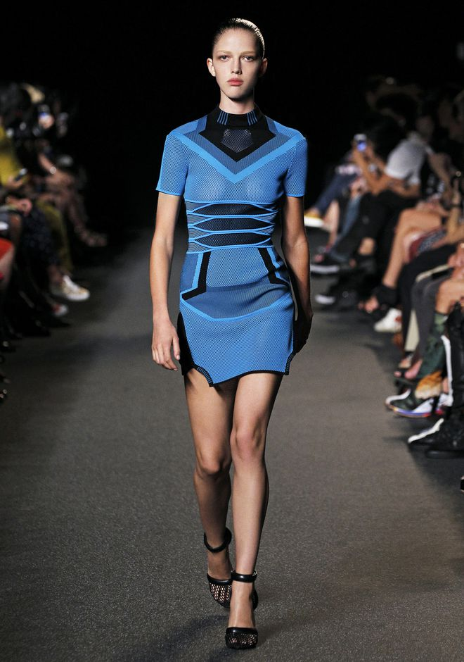 Alexander Wang Bi Color Mesh Tee Dress