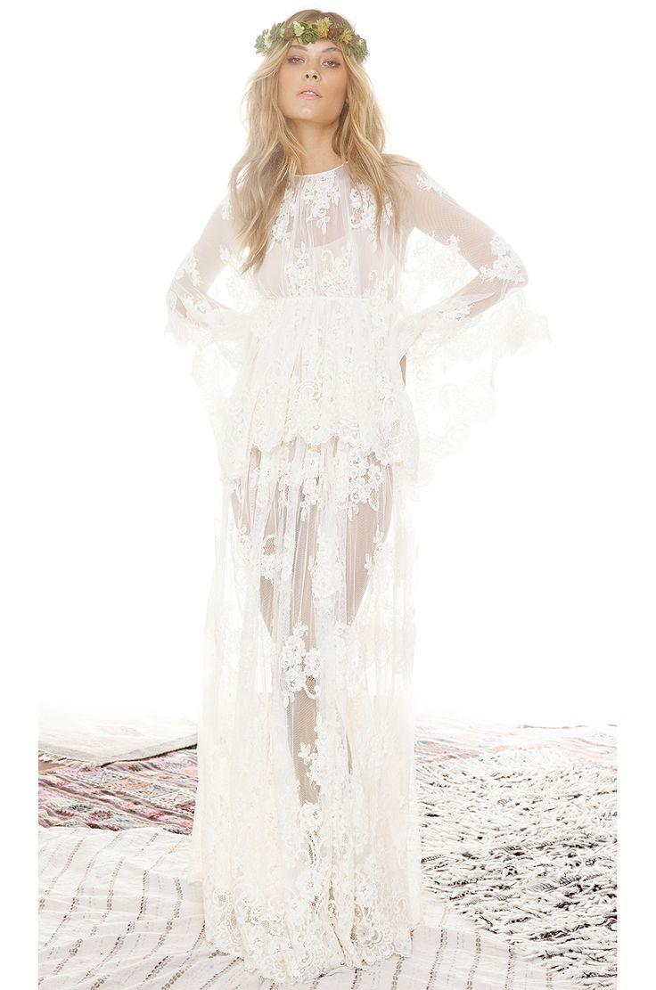 Alexis Lacey Lace Maxi Dress