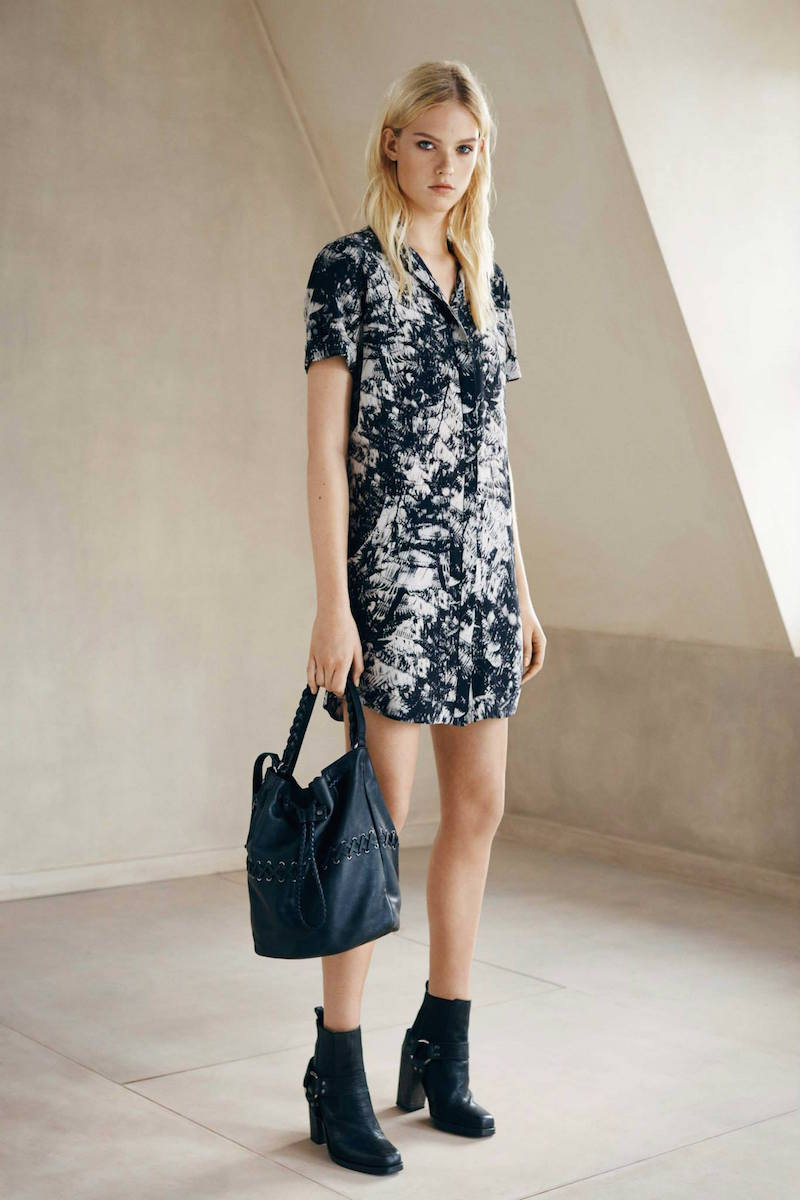 AllSaints Calla Shade Shirt Dress