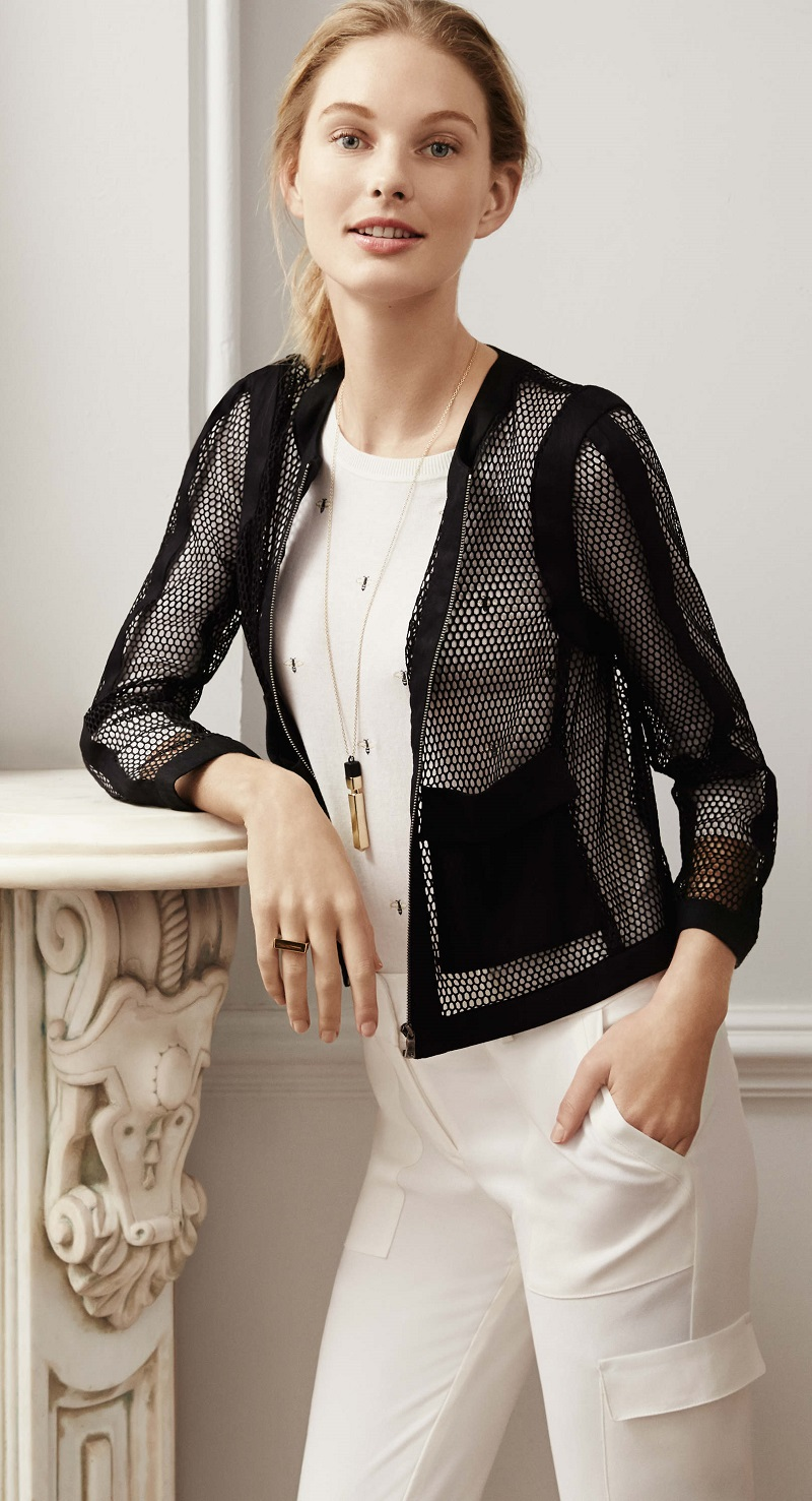 Ann Taylor How to Wear // Different Ways to Wear the Mesh ...