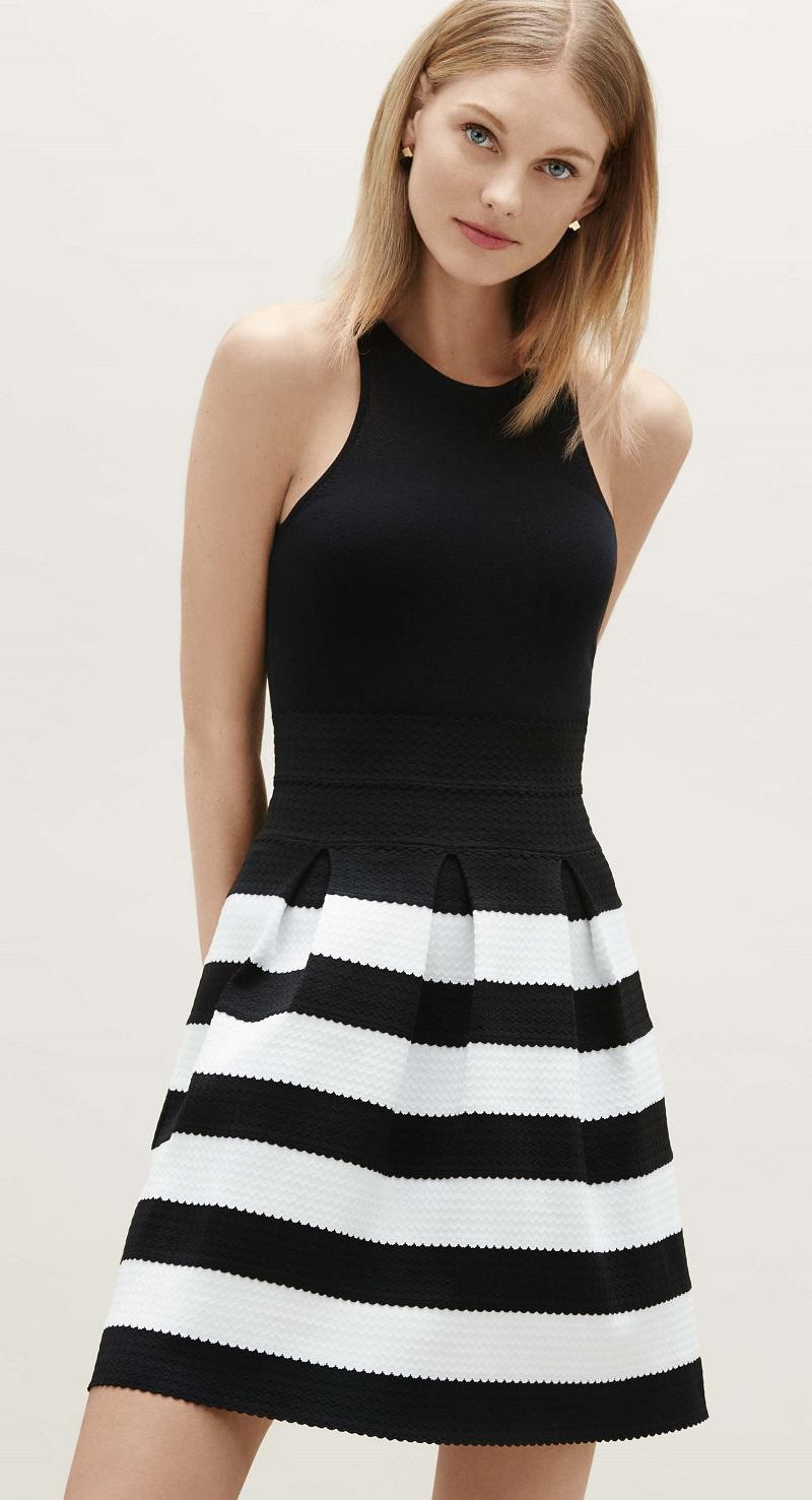 Ann Taylor Ribbon Stripe Full Skirt