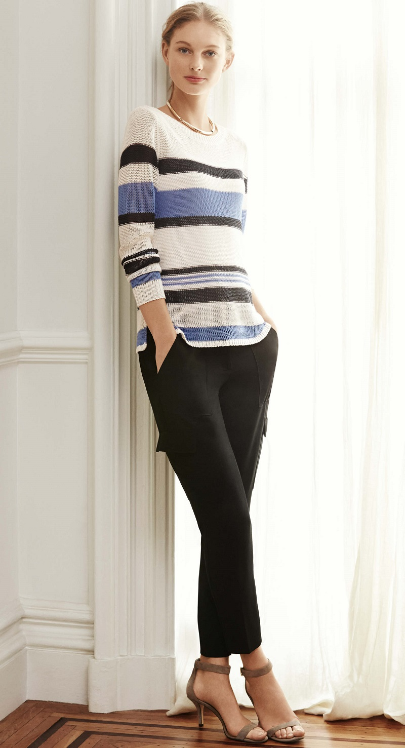 Ann Taylor Striped Boatneck Sweater