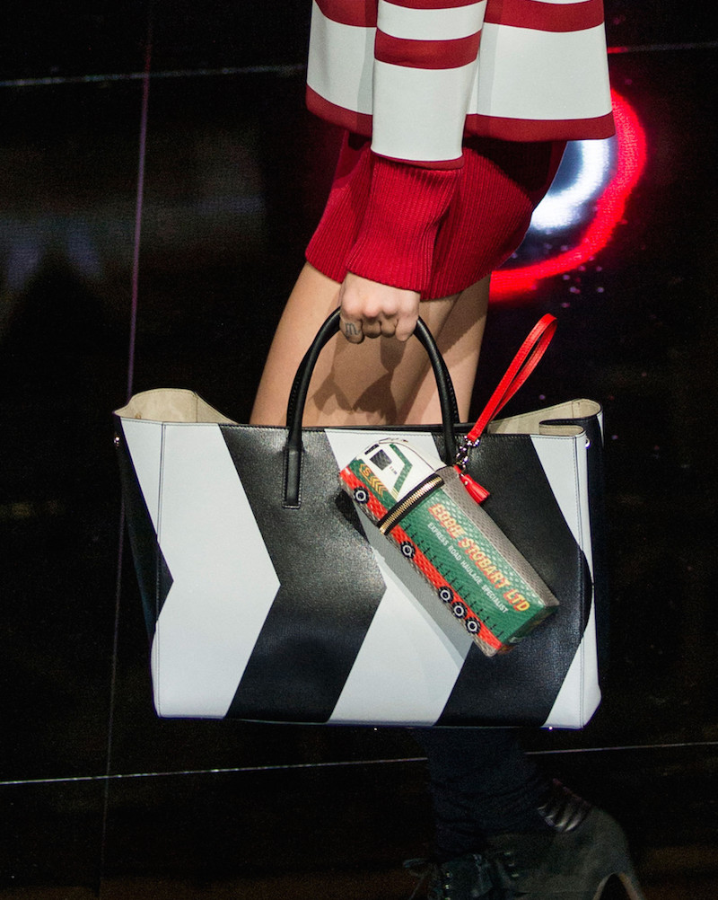 Anya Hindmarch Ebury Maxi Featherweight Chevron Tote Bag