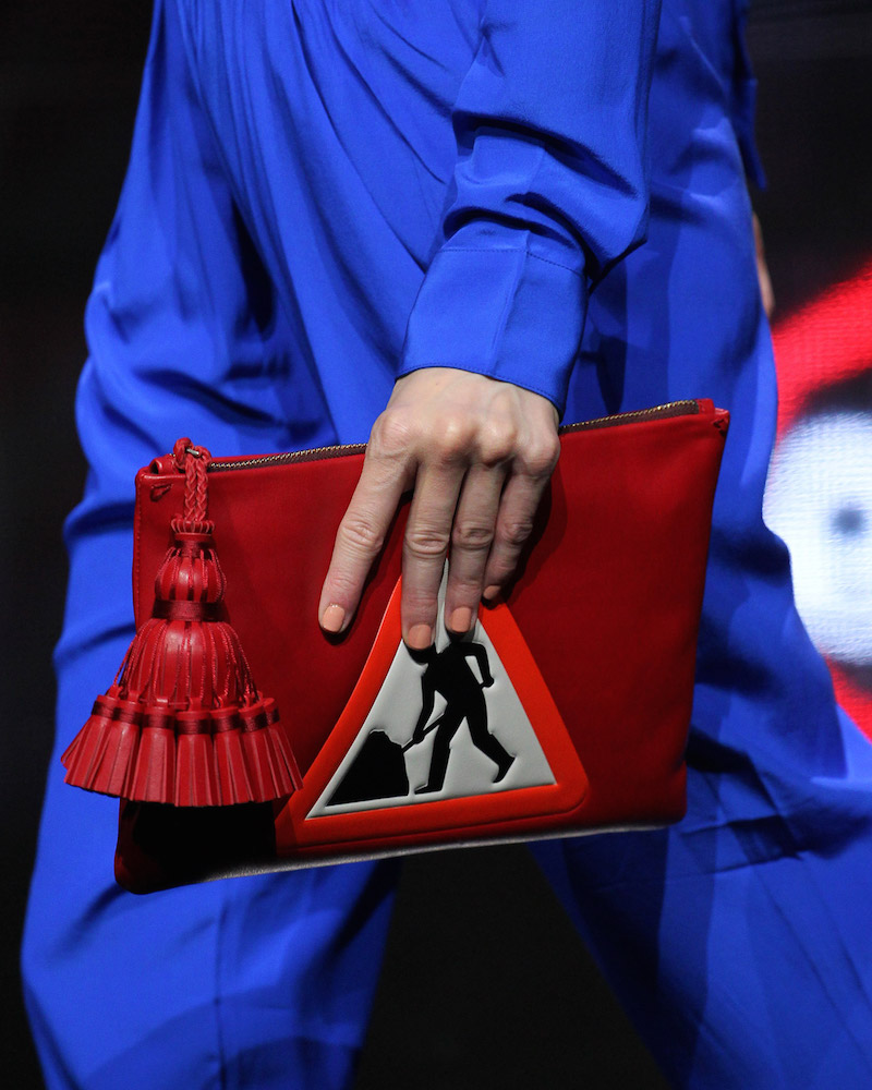 Anya Hindmarch Georgiana Men at Work Clutch Bag_1