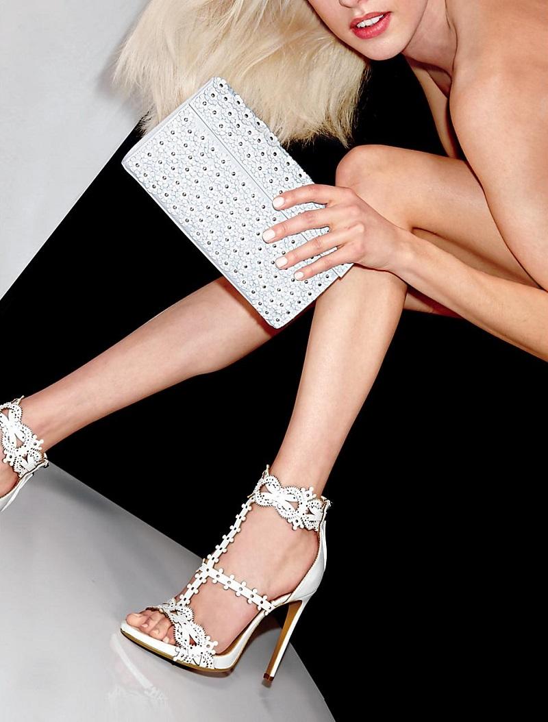 Azzedine Alaia Filigree T-Strap Sandals