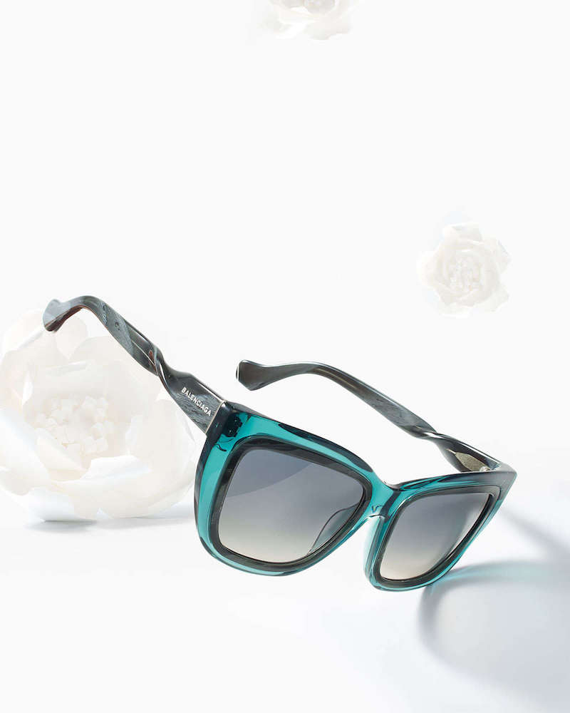 Balenciaga Horn-Effect Twisted Cat-Eye Sunglasses