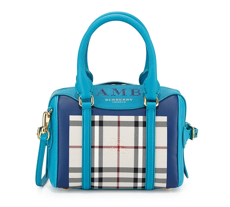 Burberry Monogram Check Mini Satchel Bag (2)