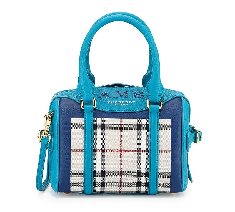 Burberry Monogram Check Mini Satchel Bag (2)