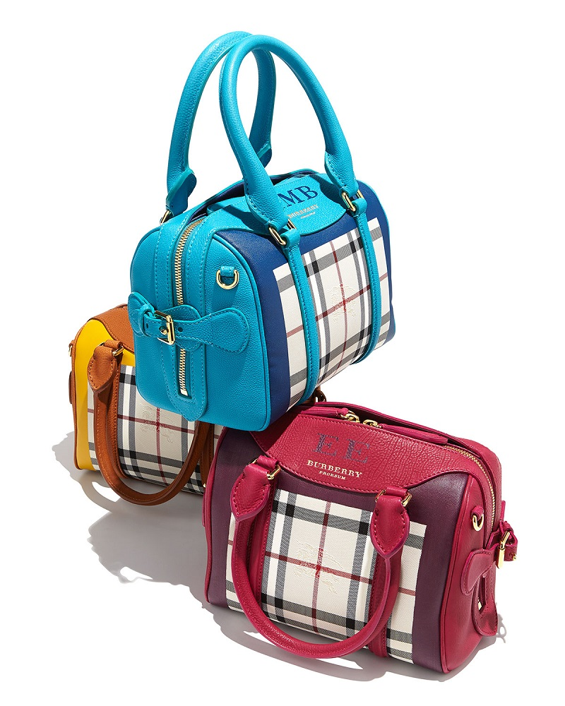 Burberry Monogram Check Mini Satchel Bag_