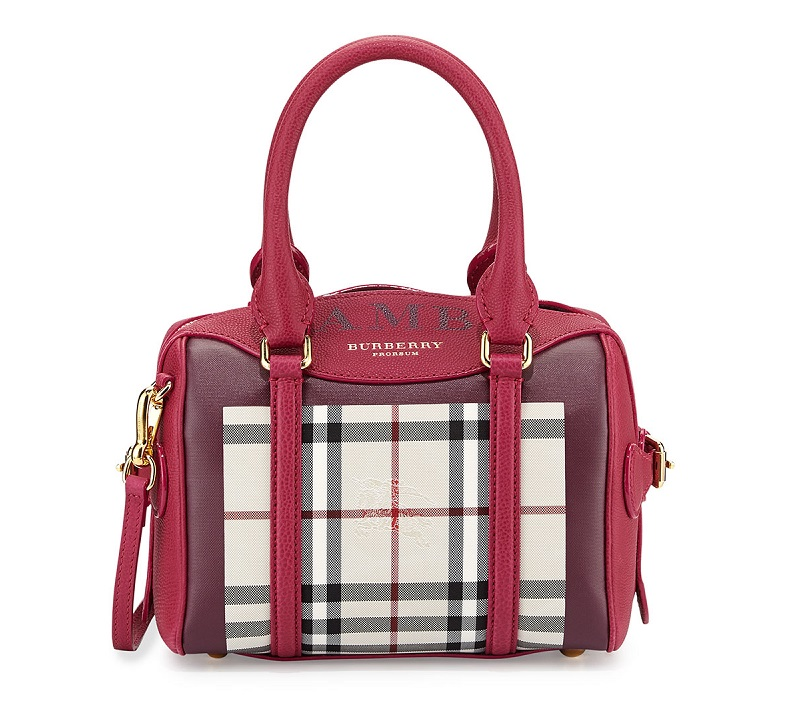 Burberry Monogram Mini Check Satchel Bag