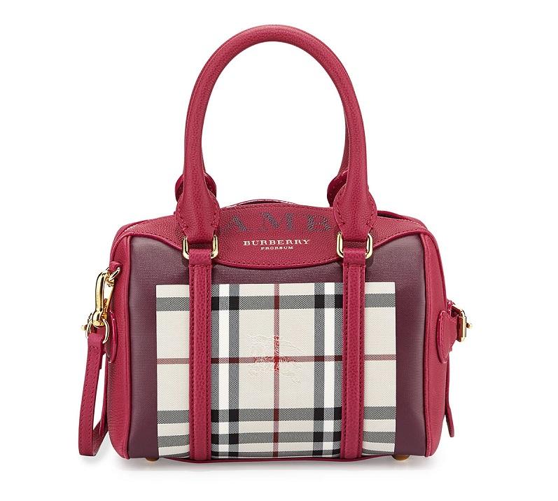 Burberry Monogram Mini Check Satchel Bag