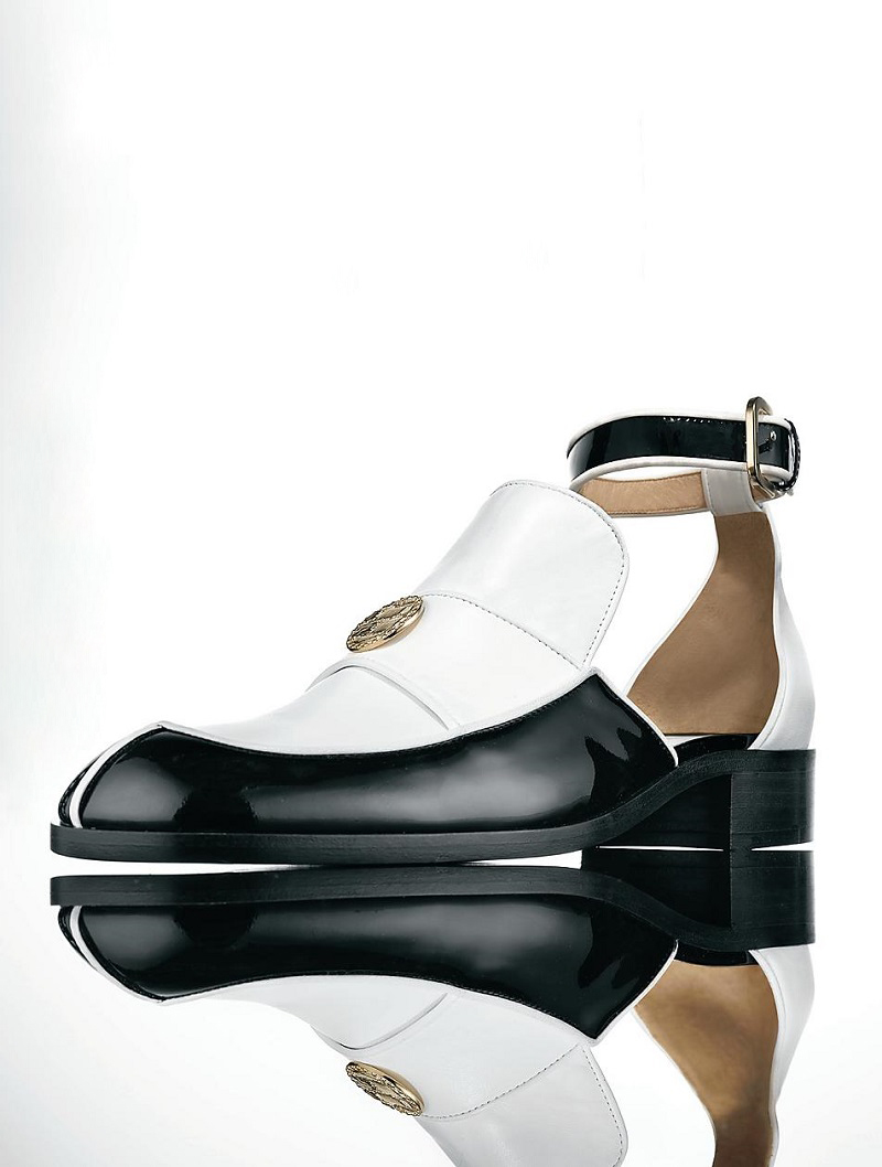 CHANEL Cut-Out Ankle Strap Loafers