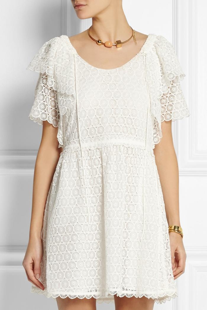 Chloé Crocheted lace mini dress