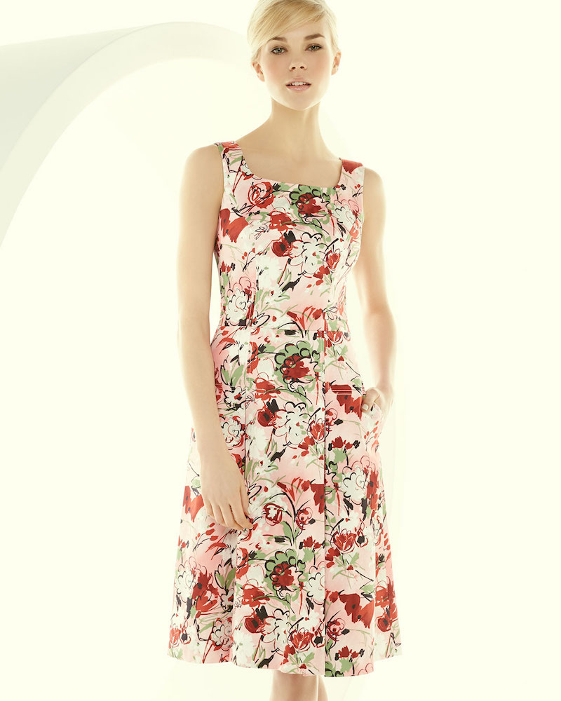Carolina Herrera Bouquet-Print A-Line Tank Dress