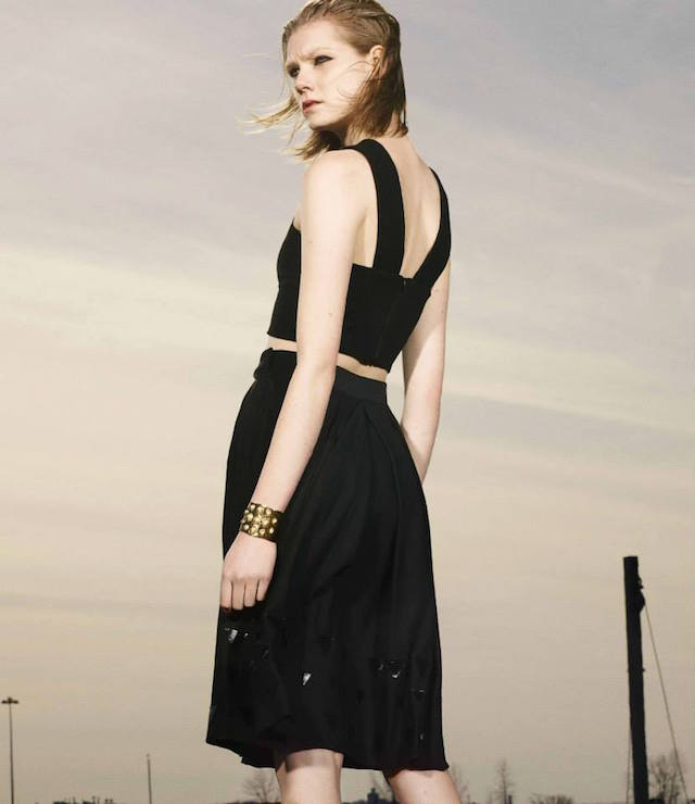 Charles Youssef V-neck Sleeveless Crop Top