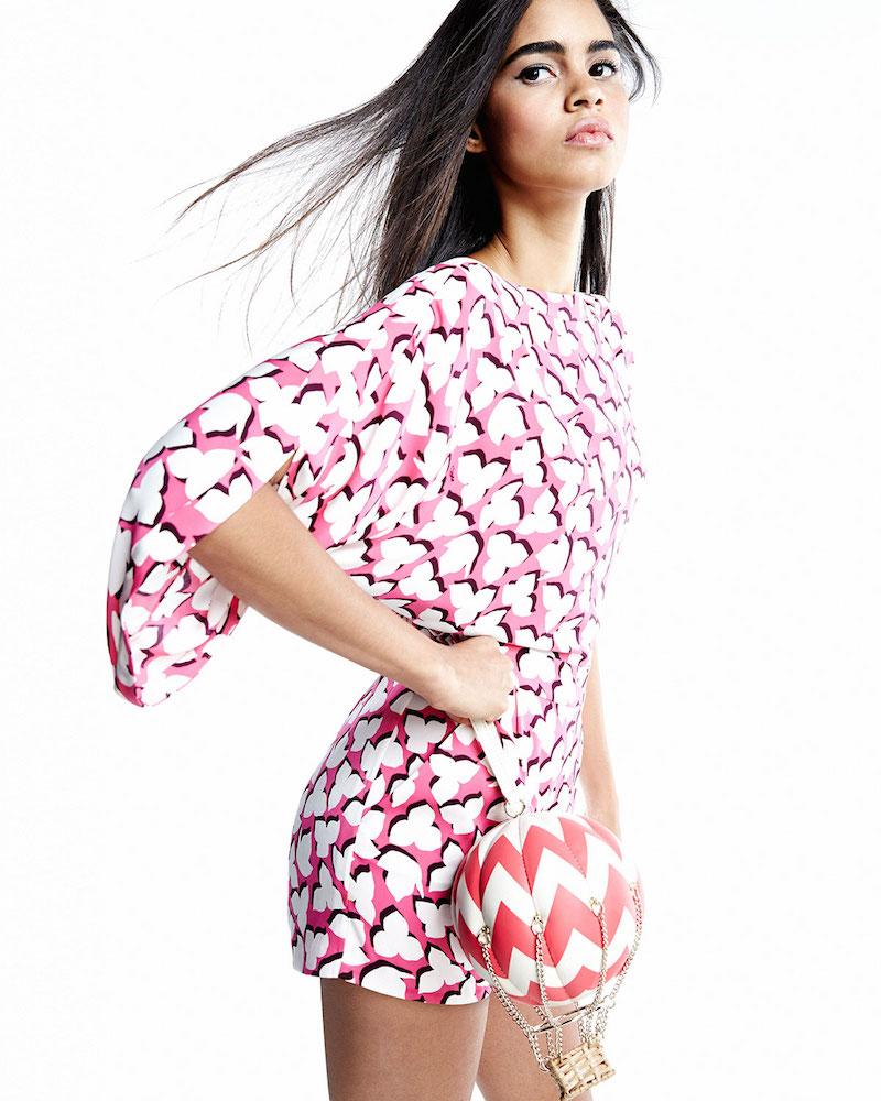 Diane von Furstenberg Drape-Back Short Silk Jumpsuit