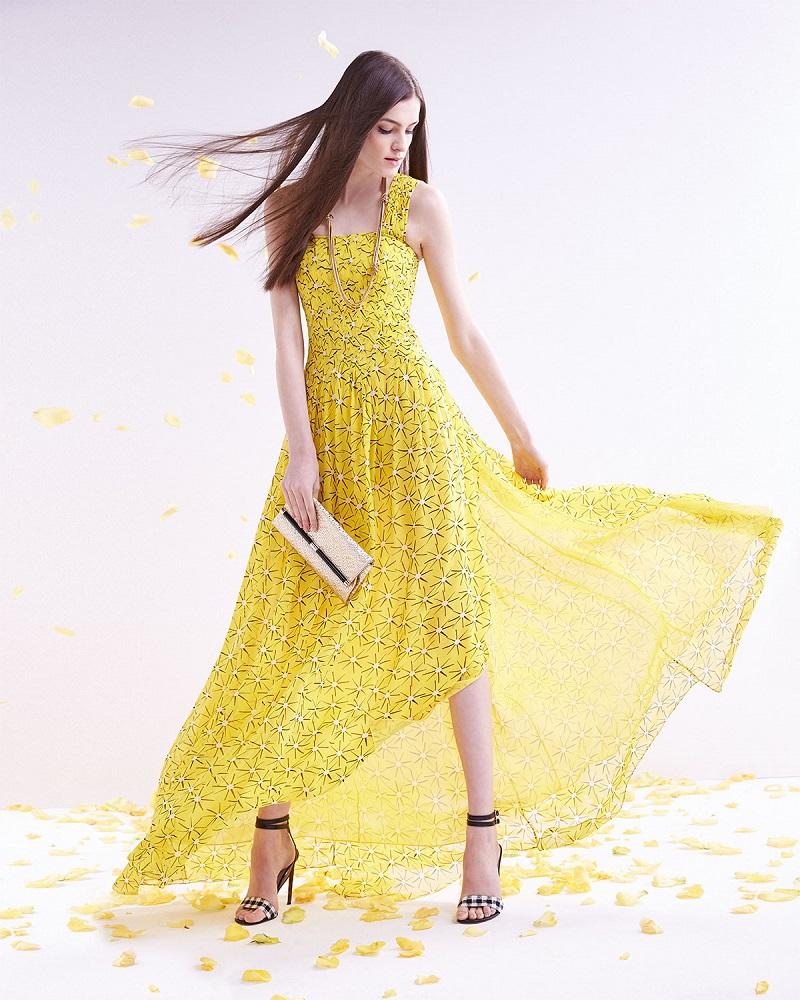Diane von Furstenberg Star-Print A-Line Maxi Dress