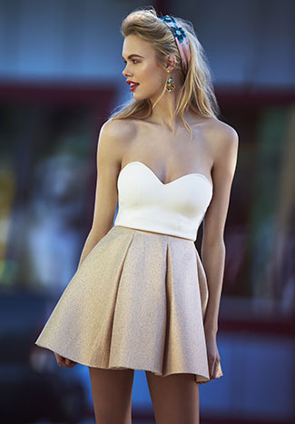 Dress Gallery Shiny Skirt