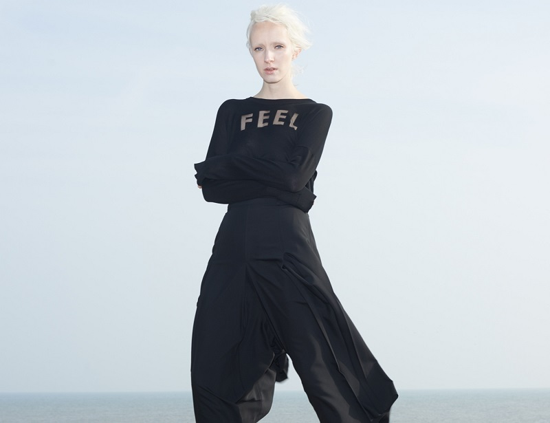 Each x Other Black Cropped Wide-Leg Trousers