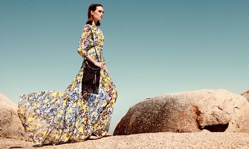 Erdem Lamara floor-length printed silk dress
