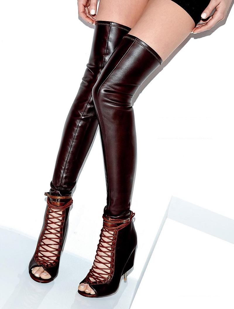 Givenchy Runway Thigh-High Corset Boots