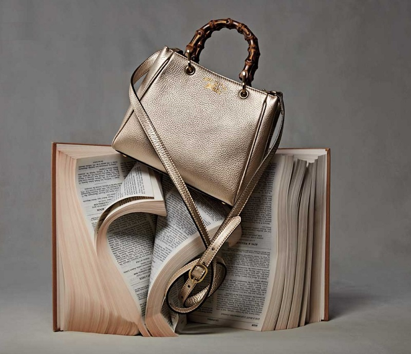 Gucci Bamboo Shopper Mini Leather Top Handle Bag