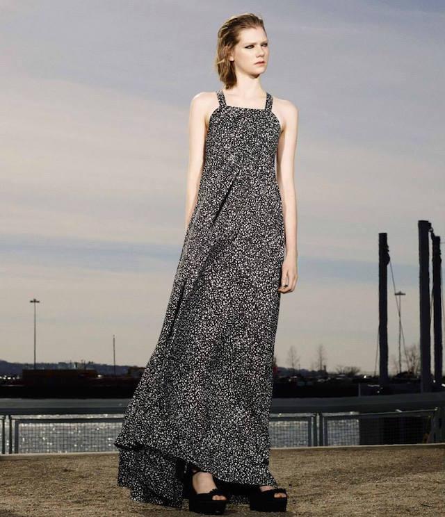 Hellessy Dot-Print Maxi Dress