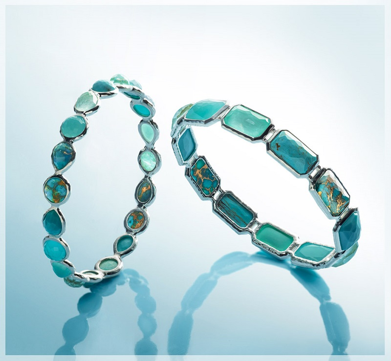 Ippolita  Wonderland Silver Turquoise Bangle