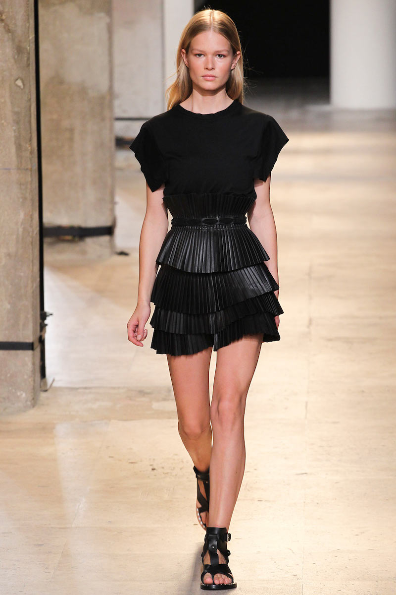 Isabel Marant Jeneth Pleated Leather Skirt