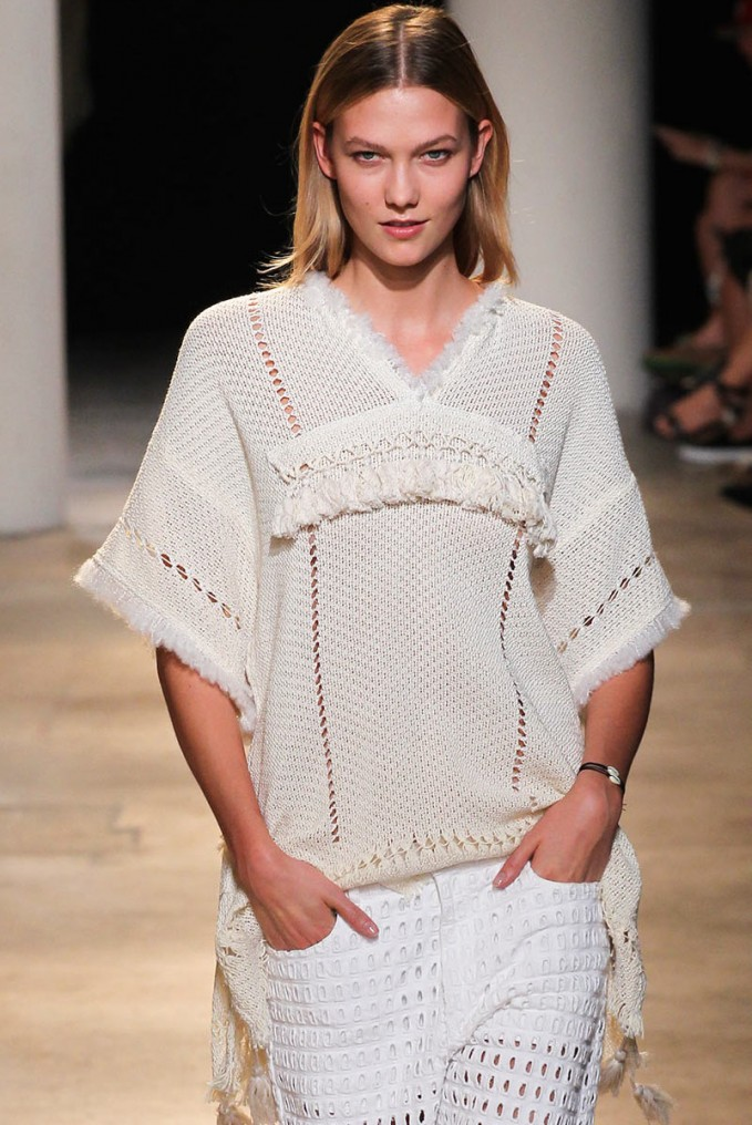 Isabel Marant Telima Fringed V-neck Tunic