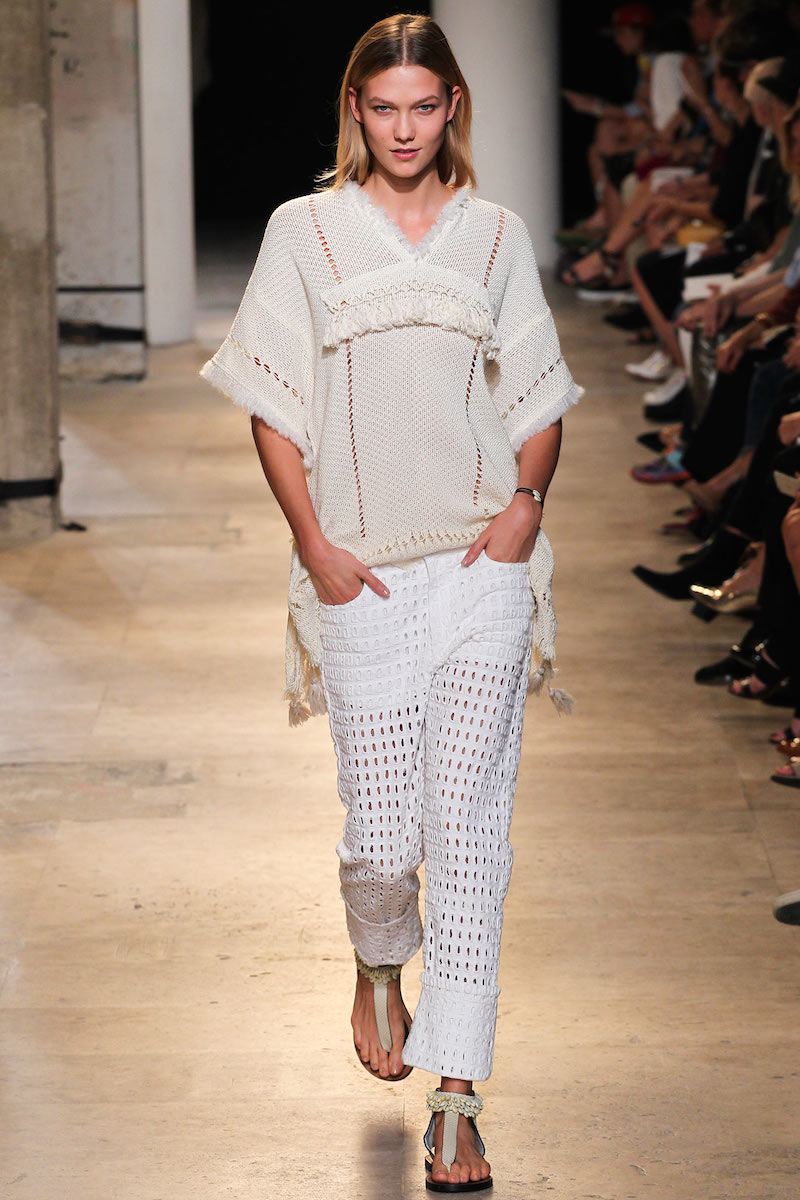 Isabel Marant Telima Fringed V-neck Tunic in White