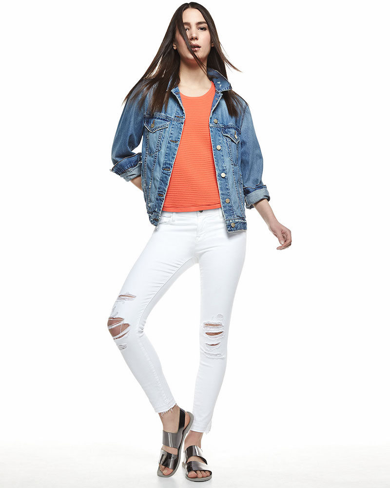 J Brand Jeans Darci Distressed Denim Jacket