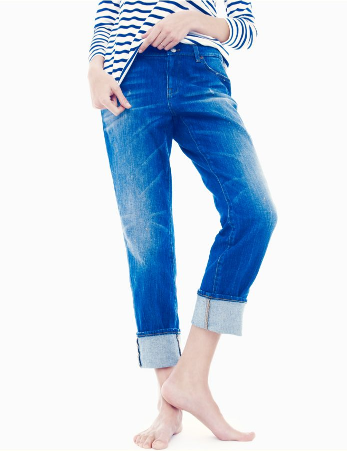 J.Crew Slim broken-in boyfriend jean in michel wash