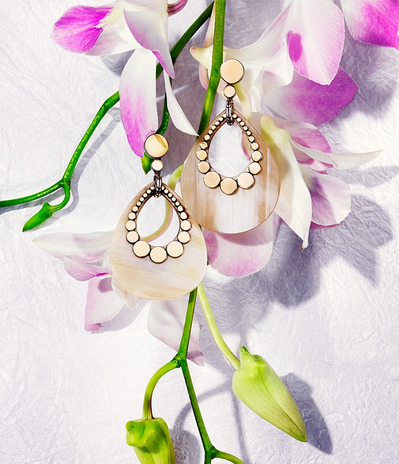 John Hardy Dot Buffalo Horn Teardrop Earrings