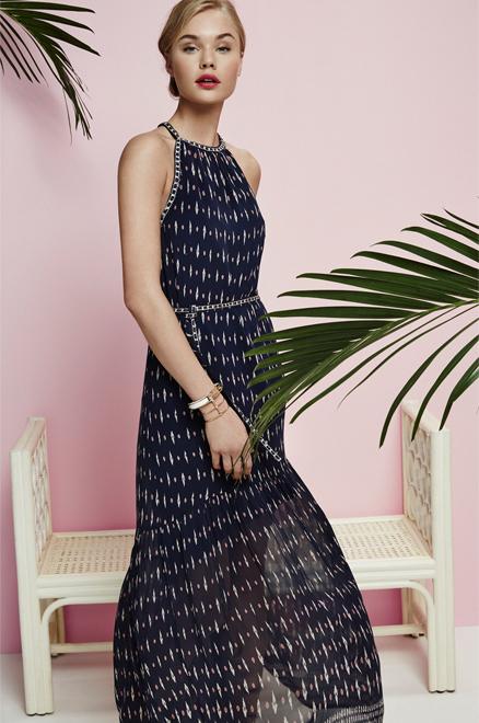 Joie Maryanna Printed Silk Maxi Dress