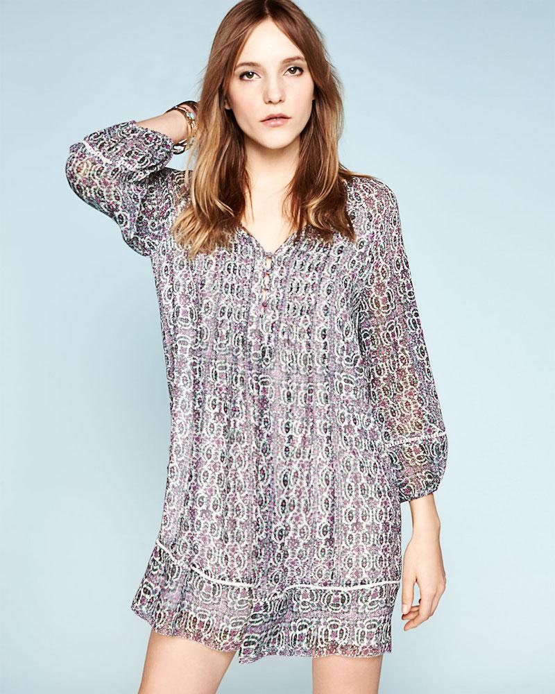 Joie Sevigny Printed Silk Dress